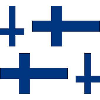 4 X Sticker Sticker Sticker Car Motorcycle Valise Pc Portable Flag Finland Finland