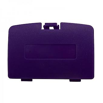 Replacement battery cover door for nintendo game boy color - purple