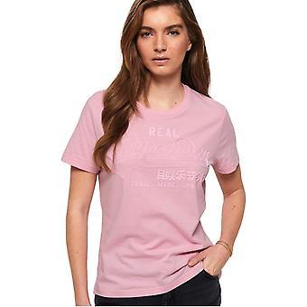 Superdry Women's Vintage Logo Tonal T-Shirt Fondant Pink 72