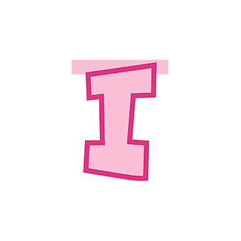 Linking Banner 20cm Pink Letter - I Party Decoration