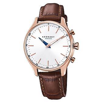 Kronaby S2748-1 Women's Sekel Hybrid Smartwatch Brown Strap