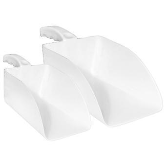 Charles Bentley hand gehouden hygiëne Scoop commerciële industriële met ergonomische handvat in wit-small/large