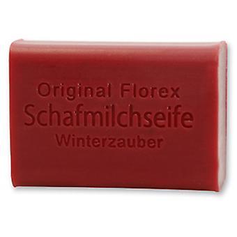 Florex sheep's milk soap - Winter magic - Fragrance experience with roast apple cinnamon and clove 100 g