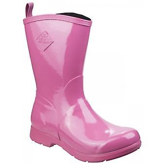 Muck Boots Bergen Mid Ladies Rubber Wellington Boots Pink
