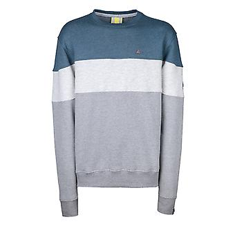 Alife and Kickin Men's Sweatshirt Vince Crewneck Emerald Longsleeve with Color Blocking Size L-XXL