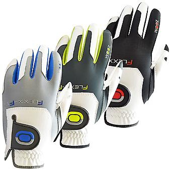 Zoom Mens Grip Instant-Fit Tech Slip Resistant Leather Golf Gloves LH - One Size