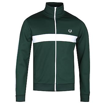 Fred Perry Contrast Panel Ivy Green Track Jacket