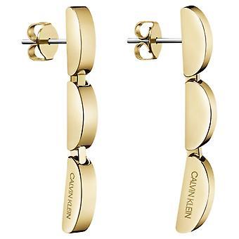 Calvin Klein Wavy Gold PVD Stainless Steel Drop Earrings KJAYJE100200