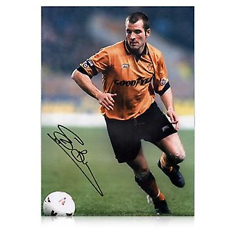 Steve Bull Signed Wolves Photo