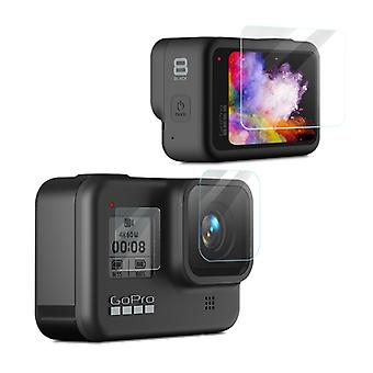 For GoPro HERO 8 Black Camera Lens Protection + Display Glass Lens Foil Accessories LCD
