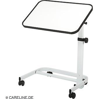 Careline bedtafel bladmaat 60 x 40 cm - hoogte 76 -105cm  WIT
