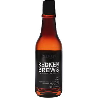 Redken Brews Shampoo, Conditioner and Body Gel 300 ml