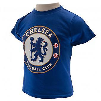 Chelsea FC barnens/ungar T Shirt och kort Set