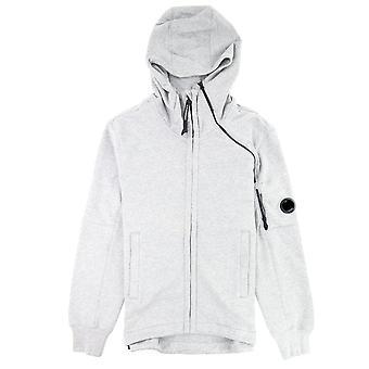 CP bedrijf diagonaal verhoogd fleece dubbele ritssluiting lens hoodie grijs M93