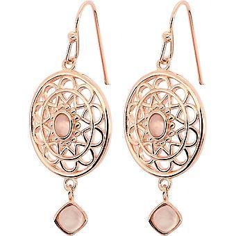 Boucles d'oreilles Stella Dor� Rose & Quartz Rose