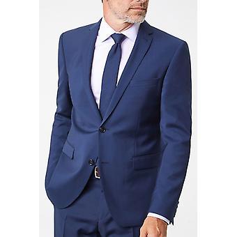 Curved-cut suit jacket