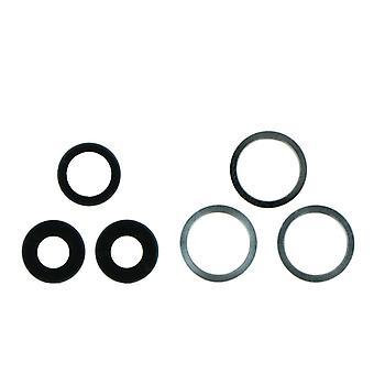 Bianco fotocamera posteriore Lens & Bracket Set per iPhone 11 Pro / Max