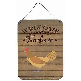 Frisian Friesian Chicken Welcome Wall or Door Hanging Prints