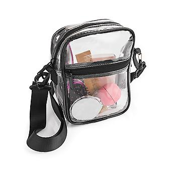 Clear Transparent Cross Body Shoulder Bag Adjustable Strap Festival Stadium Safe