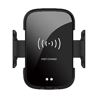 Bakeey 9w infrared automatic sensor fast charging phone bracket wireless car charger iphone x xs huawei p30 oneplus 7 xiaomi mi 9 mi8 s10 s10+ (black)