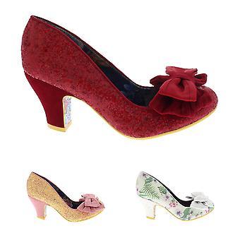 Womens Irregular Choice Ban Joe Low Heel Bow Evening Party Court Shoe