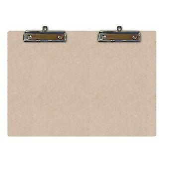 Pronty MDF Clipboard Double A5 Sized - 2 Hang Clips
