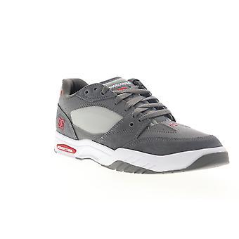 DC Maswell hombres gris cuero encaje hasta zapatos de skate atlético
