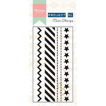 Marianne Design Clear Stamp - Border Stamp Stars PL1504