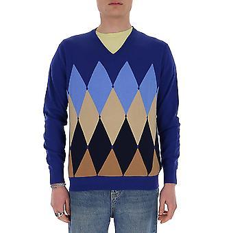 Ballantyne Q2p00114ca893740 Men's Purple Cashmere Sweater