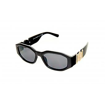 Sunglasses Women rectangular black/gold (20-018)
