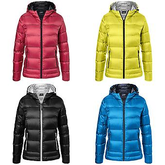 James and Nicholson Womens/Ladies Hooded Down Jacket