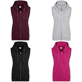 AWDis Just Hoods Womens/Ladies Girlie Sleeveless Full Zip Hoodie