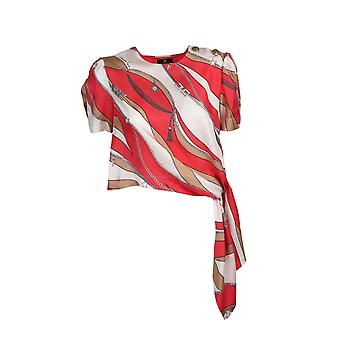 Elisabetta Franchi Ca27902e2y73 Women's Red Silk Top