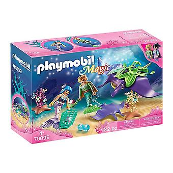 playmobil 70099 magic pearl collectors with manta ray playset 32pcs for ages 4