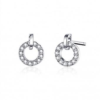Silver Earrings Round - 6555