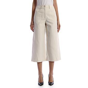 Kenzo Fa52pa0115ao02 Women's White Cotton Pants