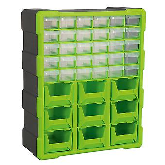 Sealey Apdc39Hv Cabinet Box 39 Drawer - Hi-Vis Green/Black