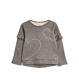 Esprit Girls' Jumper With Sequins And Frilled Sleeves