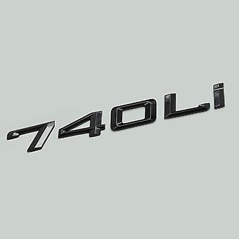 Gloss Black 740Li Car Model Rear Boot Number Letter Sticker Decal Badge Emblem For 7 Series
