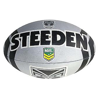 Steeden NRL New Zealand Warriors Supporter 2020 Rugby League Ball Grey/Black