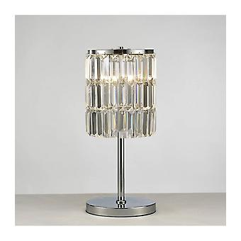 Lampe de table Torre Cristal Rideau 3 Ampoules Chrome poli