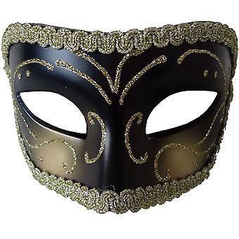 Opéra médiéval masque noir or pour Masquerade