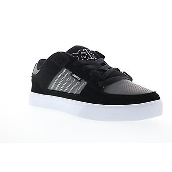 Osiris Protocol  Mens Black Nubuck Leather Lace Up Skate Sneakers Shoes