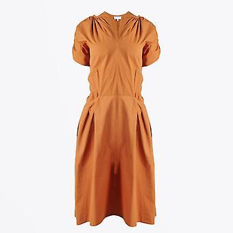 Humilité - Robe de poche en coton - Orange