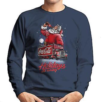 Coca Cola Santa og Truck Holidays kommer mænd ' s sweatshirt