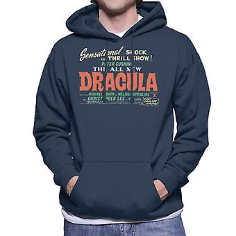 Hammer Horror Filme Dracula Schock und Nervenkitzel zeigen Männer's Kapuzen Sweatshirt