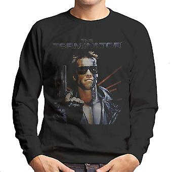 Terminator Distressed Movie Poster Shot Men's Sweatshirt