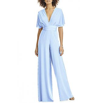 Womens Elegant Party tragen Cabrio Multiway Wrap Palazzo Weitbein Jumpsuit