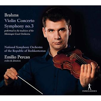 Brahms / Percan - Brahms: Violin Concerto & Symphony No. 3 [CD] USA import