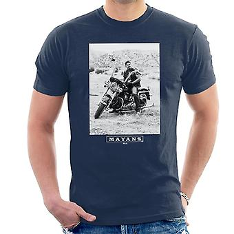 Mayans M.C. Motorcycle Club Ezekiel Reyes EZ Black And White Men's T-Shirt